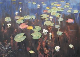 Master Copy of Water Lilies by Isaac Levitan by allyhodges