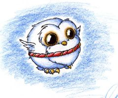 Chibi Hedwig by wingless730