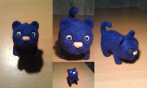 Needle felted blue cat by varjules