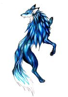 blue wolf by demoniobodrio