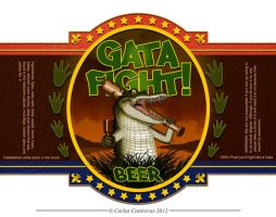 Gata Fight! beer logo by face-in-the-sky