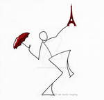 A Stick Figure in Paris by SophlyLaughing