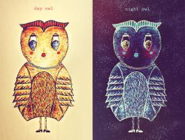 day owl-night owl by iNeedChemicalX