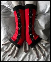 Blood Bondage Arm Warmers by ZenAndCoffee