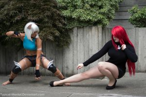 Ms. Fortune Vs. Parasoul by Typical-Mental