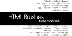 HTML Brushes by RainyDoll-Stock