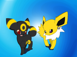Umbreon and Jolteon by PokeHihi