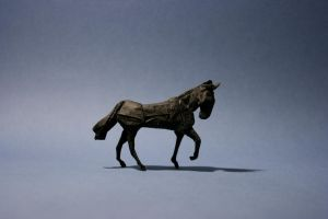 Origami Horse 'walking' by GEN-H