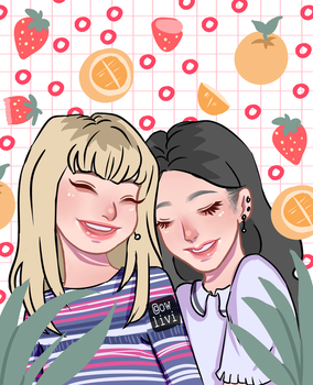 Oranges and Strawberries (LiSoo FanArt) by owlivi