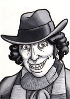 The Fourth Doctor Sketchcard by TheRigger
