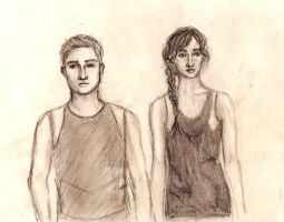 Katniss and Peeta by lollymau