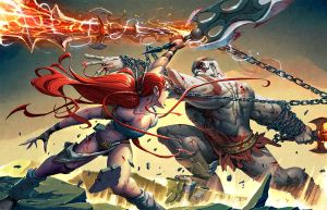 Kratos VS Nariko by warlockss