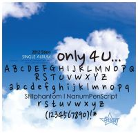 5tion Single Album Only 4 U Font by StillPhantom