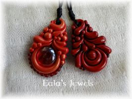 Red Passion pendants by Shatiel85