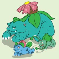 Day 1: The Bulbasaur Family by Otterpawps