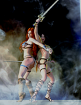 Red Sonja and Ayla - Surrounded by Vad-mig-orolig