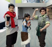 Mako, Korra and Bolin by Seeyount
