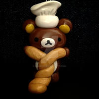 Kawaii Polymer Clay Rilakkuma Baker ADORABLE by mia831