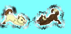 Hanten and Patchpelts pups by Faustina13