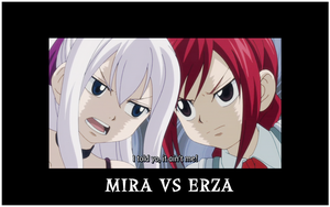 Mira Vs Erza by PrincessXcreo