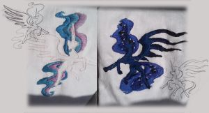 Sun + Moon Hand Embroidery by CrownePrince