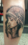 Girl with a helmet and bullets - tattoo by tuomaskoivurinne