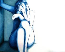 Loneliness in Blue by PoorMedea