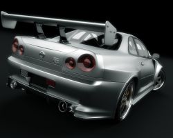 Nissan Skyline GTR back 2 by stefanmarius