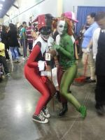 Poison Ivy and Harley Quinn cosplay by Shippuden23