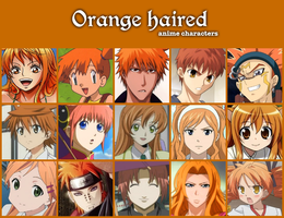 Orange haired anime by jonatan7