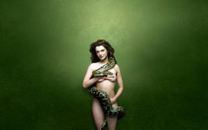 Rachel Weisz with snake by noga123