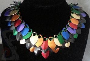 Rainbow Scale Necklace by TiernaLraet