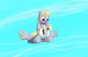 Derpy and Dinky Flying by Grennadder