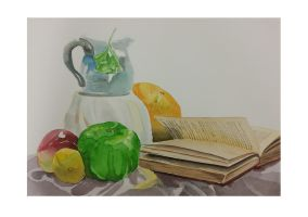 Still Life - Pages of a Book by Kauriga