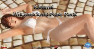 Kasumi: Unconscious Pose Pack (10 New Poses Added) by SnowTheWinterKitsune