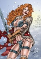 Marvels Red Sonja 2 by Clu-art