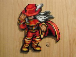 Red Mage FF - Perler Beads by Cimenord