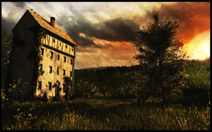 House In Sunrise by 895-Graphics