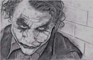 Heath Ledger THE JOKER by MrFixit741