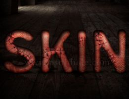 Stitched Skin Halloween Text Effect by PsdDude