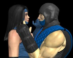 Kitana and Sub zero klassic by corporacion08