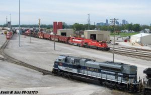 NS 1070 Wabash heritage Terminal Railroad Yard IL by EternalFlame1891