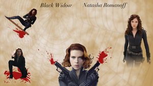 Black Widow Wallpaper Large by WildHorseFantasy
