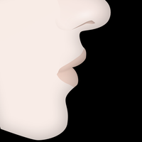 Face Profile Vector by xxdigipxx