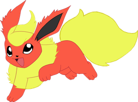 ~Pokebase~ Flareon by YukiMemories