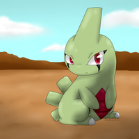 Larvitar by SkullMoonWintter