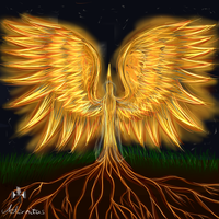 Sparrow and redwood-tree by Aeonitas