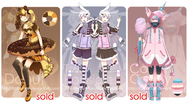 [Auction] NOMdoptables [CLOSED] by Katkat-Tan