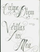 Tattoo Lettering 21 by 12KathyLees12