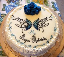 Tribal butterfly Cake by Dyda81